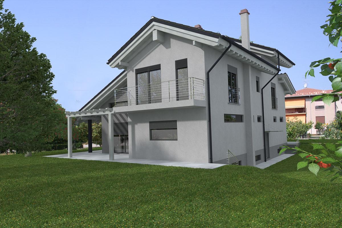 Somma lombardo varese villa in legno architetti serati for Villa legno